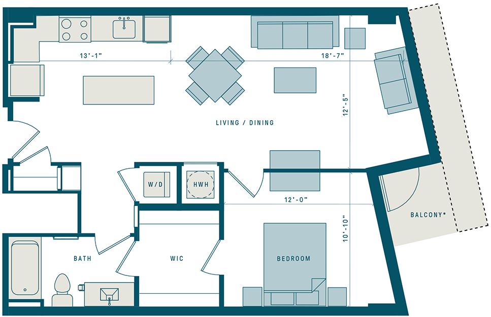 Floor Plan for Apt 314