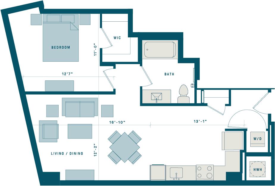 Floor Plan for Apt 819