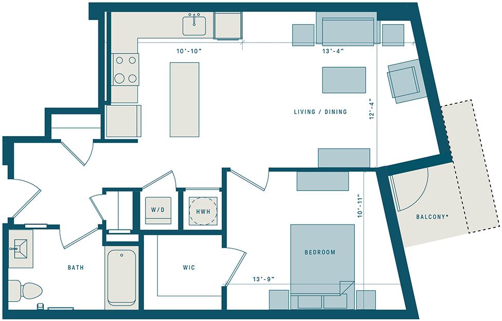 Floor Plan for Apt 510