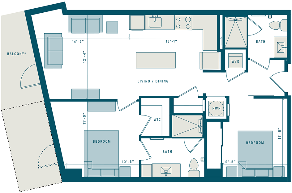 Floor Plan for Apt 321