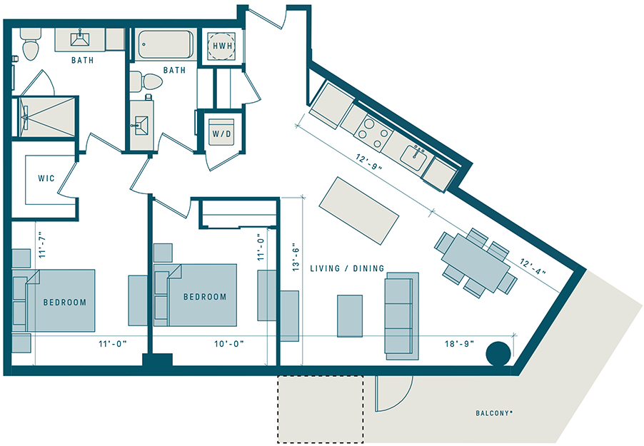Floor Plan for Apt PH22