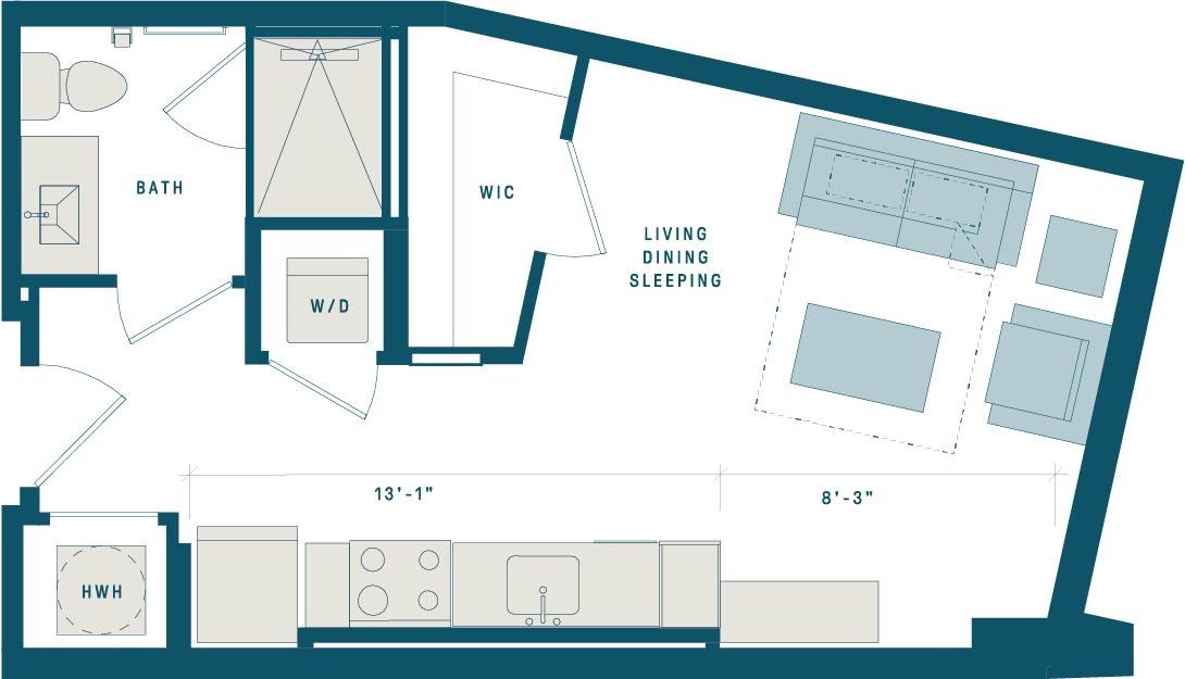 Floor Plan for Apt 804