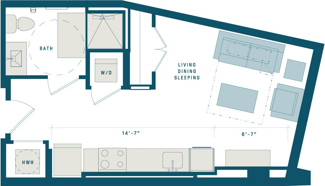 Floor Plan for Apt 304