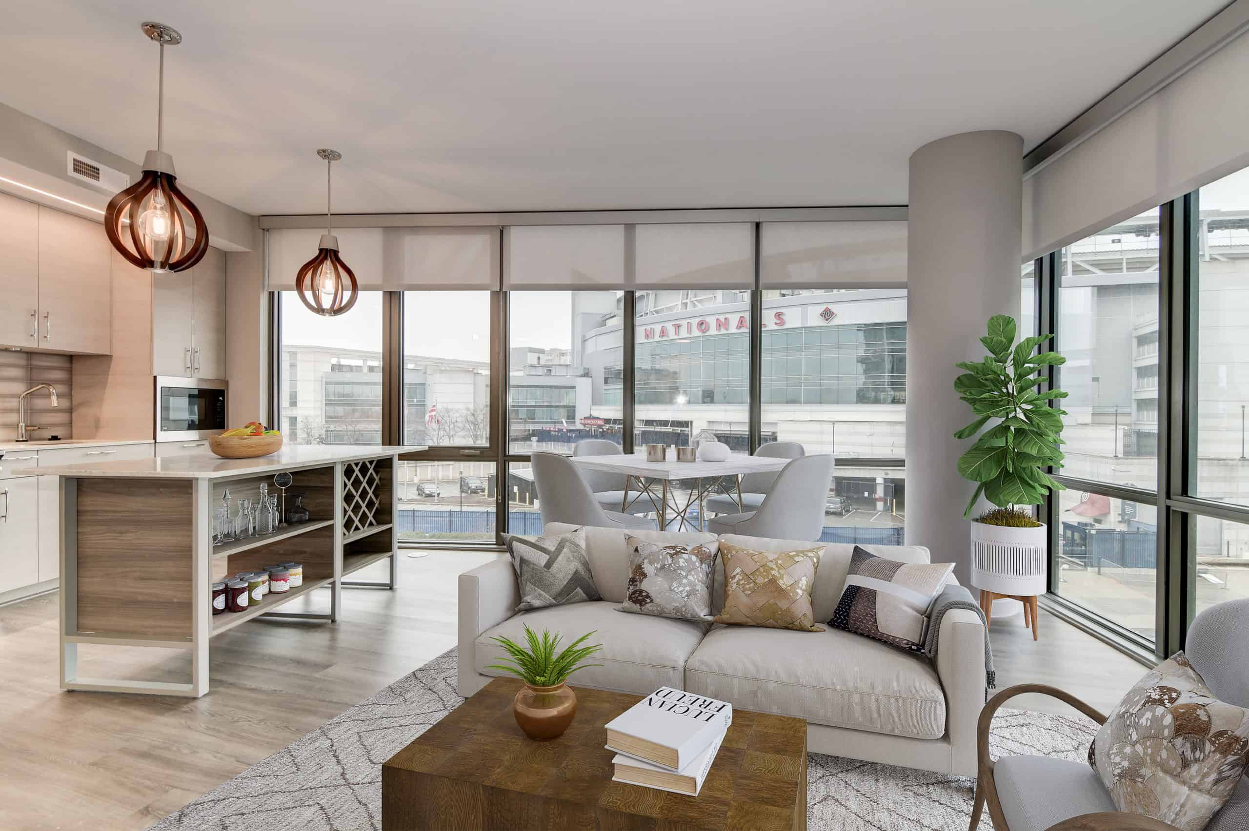Stunning 2 bedroom apartment with direct views of Nationals Park